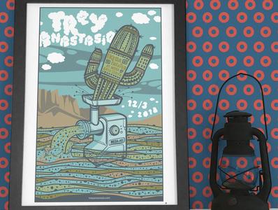 Trey Anastasio illustration screen print poster poster art gig posters