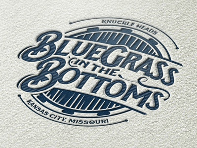 Bluegrass in the Bottoms identity branding logo
