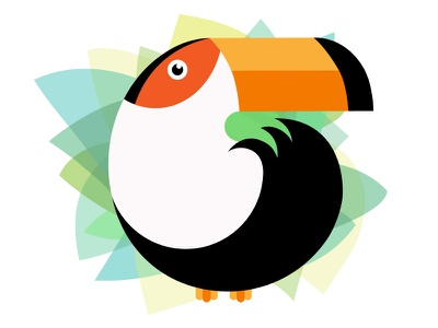 Happy Toucan vectortwist hello dribbble toucan illustrator