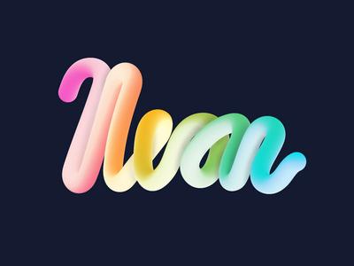 Neon 3D Type