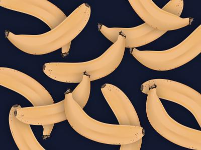 Banana Rama pattern gradient mesh bananas vector