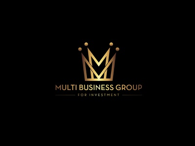 Multi Business Group gold graphic-design investment branding identity icon logo