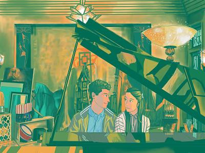 To All The Boys: PS I Still Love You Fan Art webtoon anime green fanart digital art aesthetic illustration
