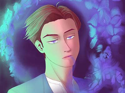 Allure illustration webtoon digital art aesthetic anime