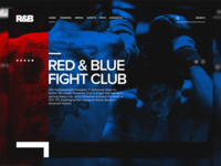 R&B Fight Club fight landing page digital design ui ux web site web design