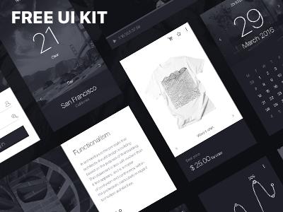 mOnochrome - Free UI KIT [*.psd] psd ui kit download free