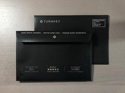 TurnKey Foil Direct Mail Envelope vector design print design luxury modern high end direct mail silver foil foil mail