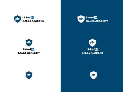LinkedIn Sales Academy Logo sales social media design branding logo blue linkedin