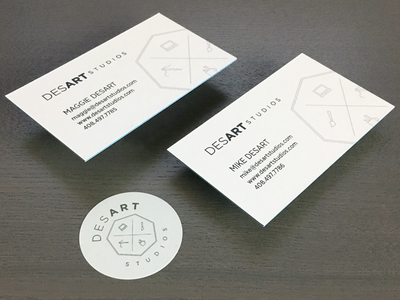DESART STUDIOS Business Cards studio design typography logo monochromatic business card desart studios