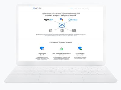 Alpine Website professional minimal modern white clean website