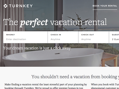 TurnKey Vacation Rentals Page website hero banner web webpage vacation