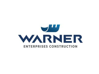 Warner Logo icon gradient blue logomark typography design logo design logo