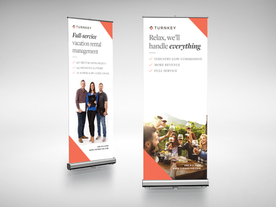 TurnKey Stand Up Banners graphics tradeshow stand up banner print turnkey