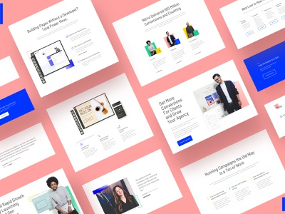 unbounce blocks unbounce landing pages webpages marketing ux ui blocks components branding redesign website