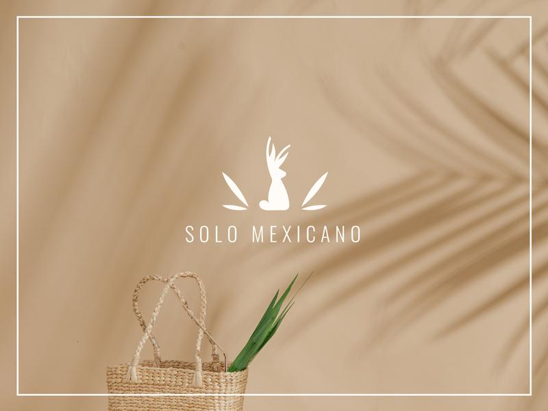 Solo Mexicano mexican rabbit branding logo