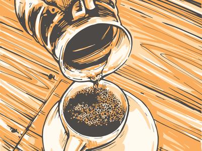 Coffee Pour caffeine illustration coffee