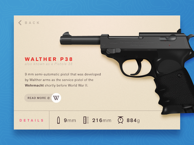 Walther P38 metal illustration weapon p38 walther gun