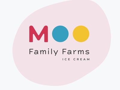 Ice cream Logo-Moo Family Farms Ice Cream logochallenge familyfarms pinklogo icreamlogo logodlc logo typography minimal illustration design dailylogochallenge logodesign graphicdesign branding