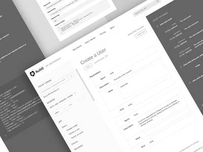 API Reference - Wireframes wireframes ux design api reference docs process bw no-color