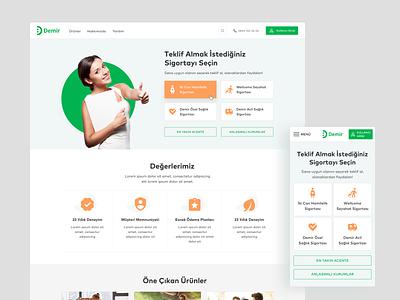Online Insurance clinic insurance ios interaction mobile card design app web ux ui