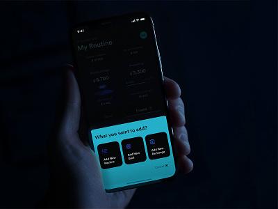 outgo product ios mobile card design app ux ui