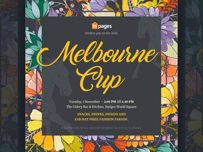 Melbourne cup invitations by emily ng dribbble melbourne cup invitations stopboris Choice Image
