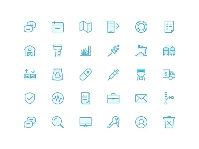 Purdy Icons sketch agriculture livestock icon set agtech agriwebb transparency line icons vector farm icons