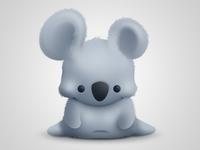 Fluffy koala