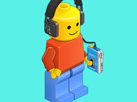 Isometric Lego Dude