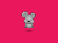 Hovering koala