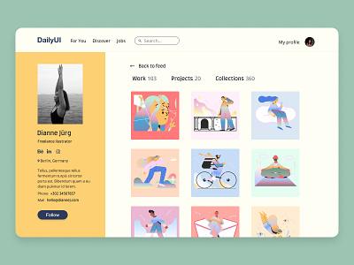 Daily UI Design #006 · User Profile art ui uidesign illustration designer design art design dailyuichallenge daily ui dailyui