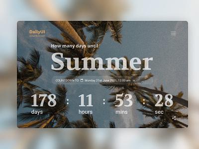Daily UI Design #014 · Countdown Timer webdesign graphicdesign graphic ui design ui designs summertime time countdown timer countdown summer desktop art uidesign designer design art design dailyuichallenge daily ui dailyui