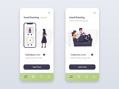 Daily UI Design #015 · On/Off Switch food illustration food app food share order delivery service delivery app delivery application app design app art illustration uidesign designer design art design dailyuichallenge daily ui dailyui