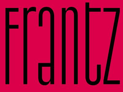 TT Frantz typography design type