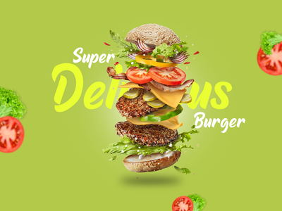 Burger Social Media Design burgers foodies food and drink product design foodie social media design photoshop manipulation design