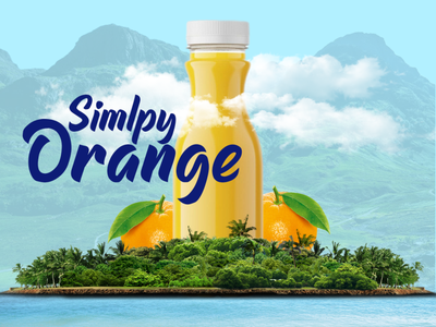 Orange Juice Social Media Manipulation juices food and drink product design social media design photoshop design manipulation