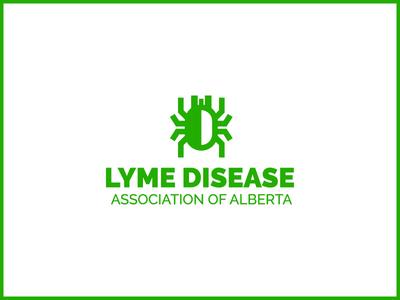 Logo design for Lyme Disease Association of Alberta non profit alberta tick branding bug icon npo logo