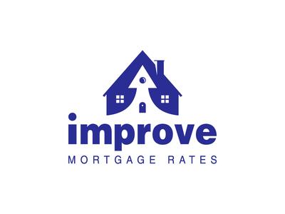 Mortgage house logo branding illustration improve arrow house mark icon logo