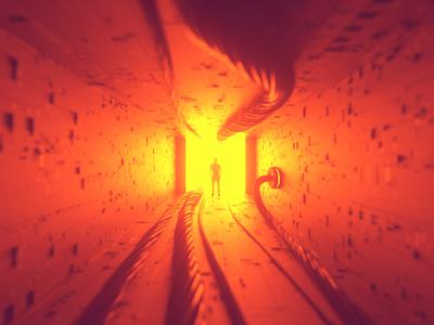 Doorway wires space maxon octane aliens render 3d c4d