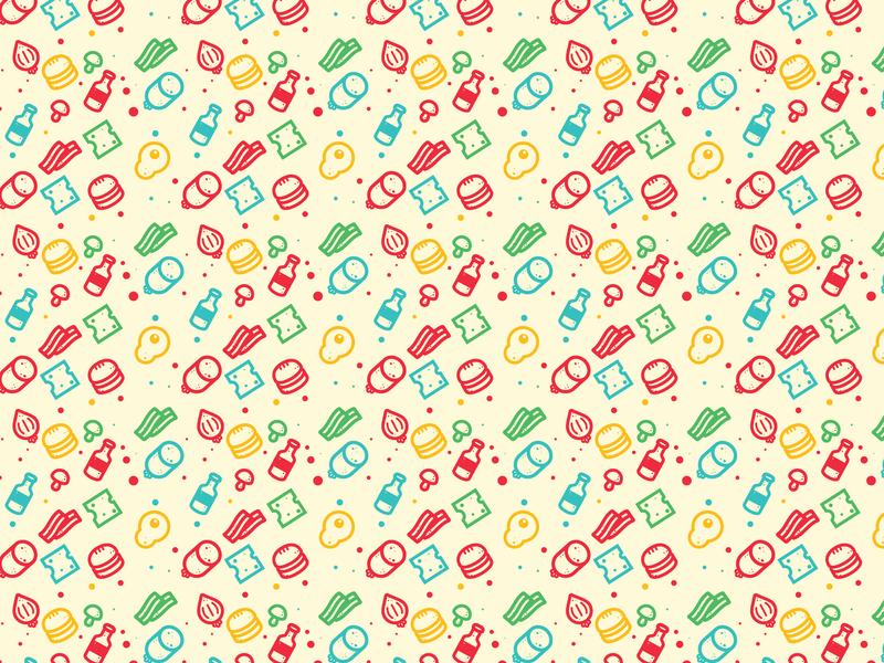 Food stuff 2d mark vector design icon illustration pattern