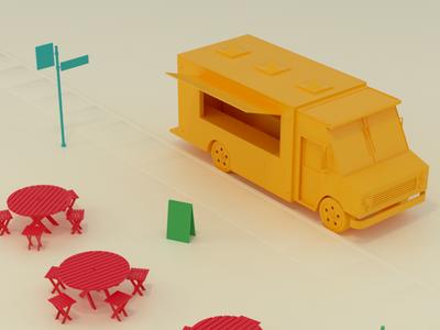 Food Truck design model c4d food truck render 3d