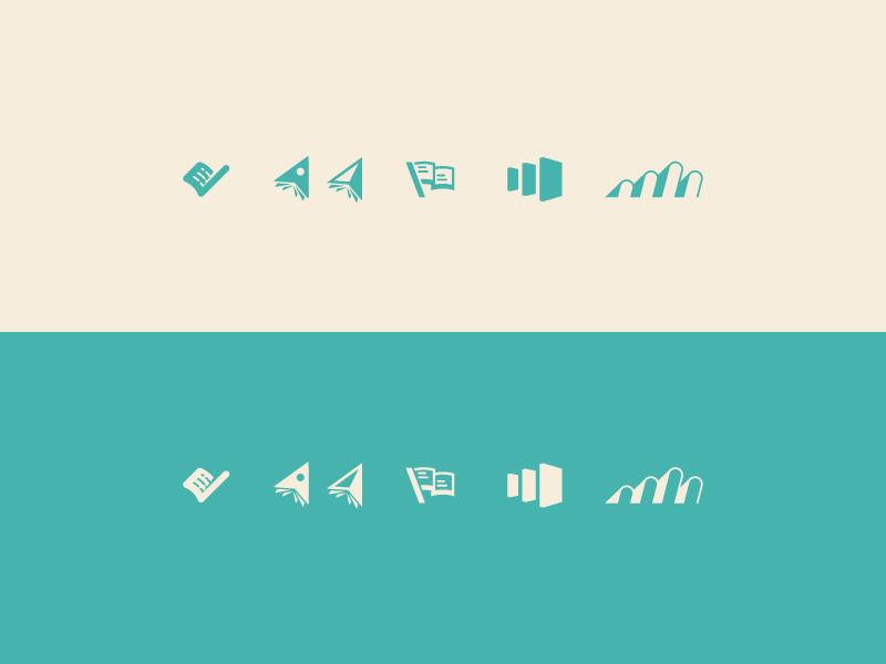 Rejects vector illustrator illustraion wayfinding books branding logo