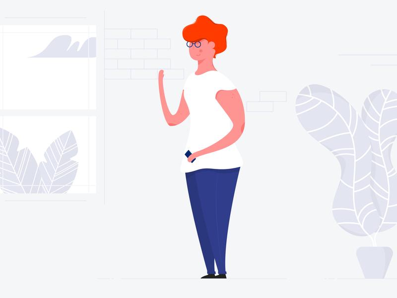 Happy users character animation illustrator illustration