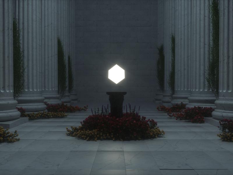 Greek hall design render c4d 3d art