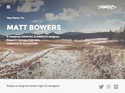My Finished Portfolio web website design simple personal portfolio profile clean @2x hidpi