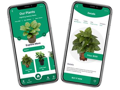 Plants Shop App plant design app mobile ux ui