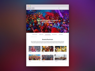 Events & Festivals page
