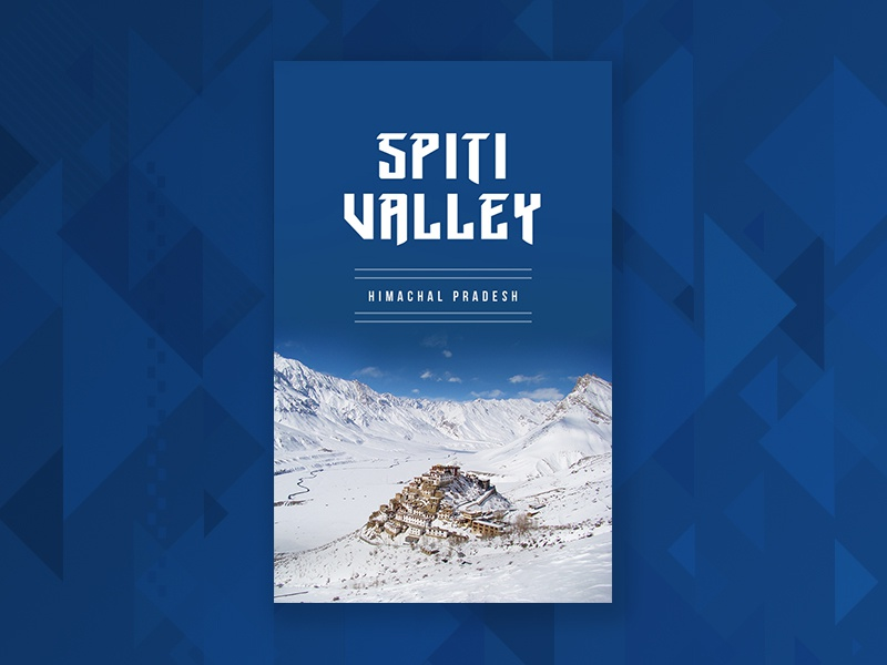 Travel poster 1 | Spiti Valley minimal flat travel search location design poster