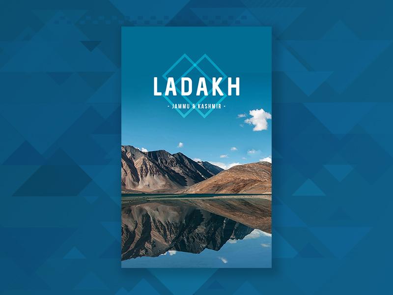 Travel poster 4 | Ladakh ladakh travel search minimal location flat design poster