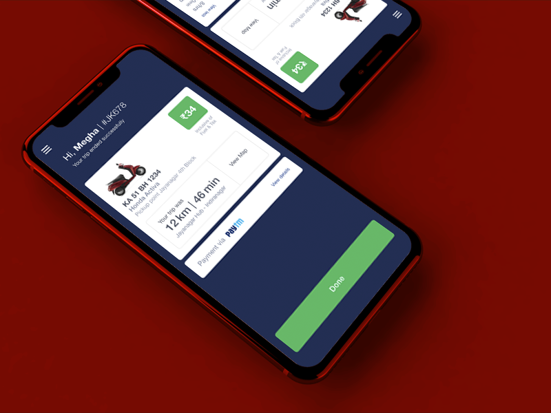Booking Summary scooter booking summary payment booking app uidesign app concept app mobile design uiux
